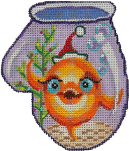 Goldfish With Santa Hat Mini Mitt