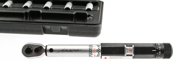 "AVENIR 1/4"" TORQUE WRENCH Set Drive Storage Case Prevents Over-Tightening Bike"