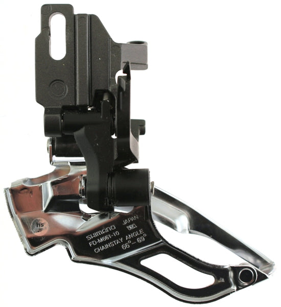 SHIMANO SLX FD-M661-10 Front Derailleur Direct Mount 10 Speed Dual Pull NEW