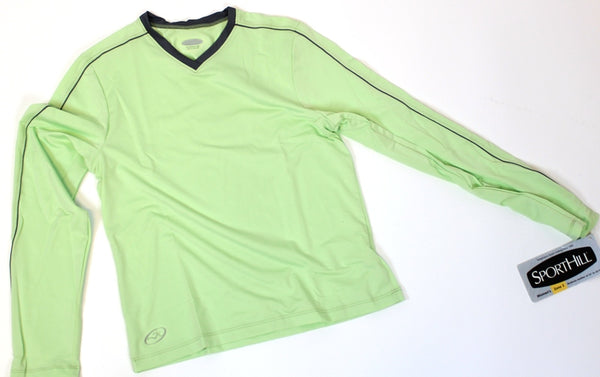 SPORTHILL UTILA TEE Long Sleeve Women's Running Shirt Small Sm Soft Lime NWT