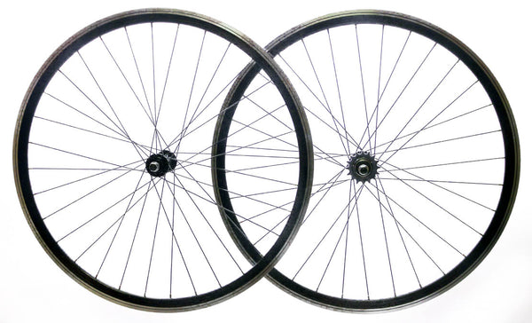 Fixed Gear Wheelset Bike Silver NEW AEROMAX Track 700c Single Speed Freewheel
