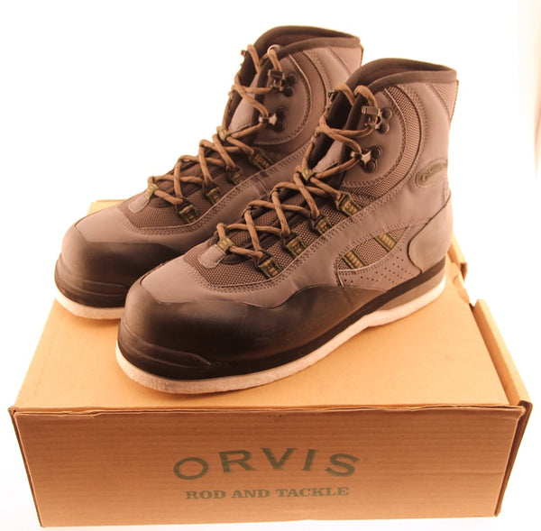 ORVIS ULTRA LIGHT WADING SHOES Felt Sole Men's Size 7 Gray Boots New in Box