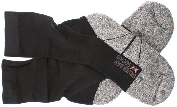 X-SOCKS SILVER DAY Running Casual MSRP $34 US 3.5 - 6 EU 35 - 38 Black NEW