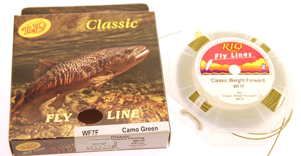 Jim Vincent's RIO Classic Fly Fishing Line WF-7-F Camo Green 82' NIB