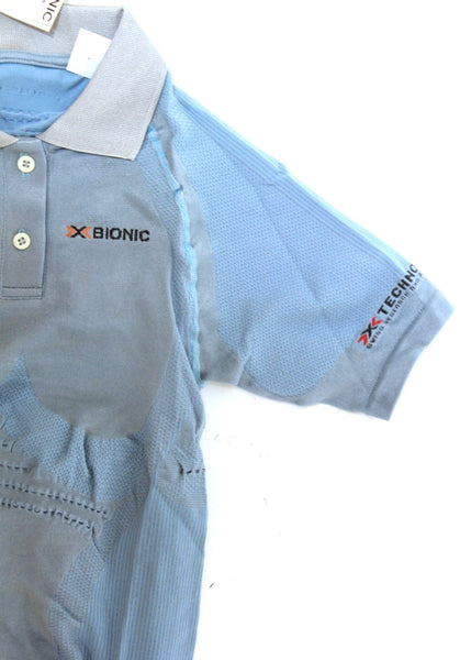 X-BIONIC FENNEC LADY POLO Short Sleeve Shirt Med M Blue MSRP $299 NEW SAMPLE