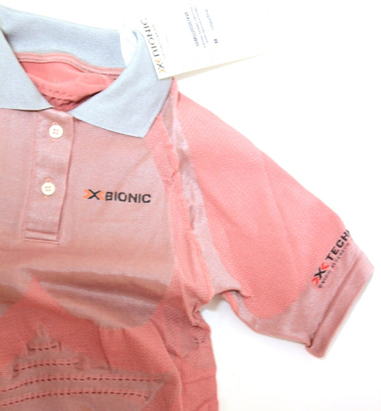 X-BIONIC FENNEC LADY POLO Short Sleeve Shirt Med M Silver MSRP $299 NEW SAMPLE