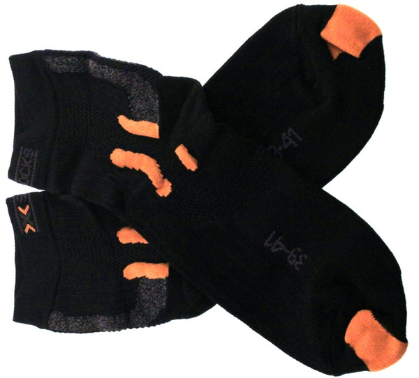 X-SOCKS STREET BIKING MSRP $32 Short Sock 6.5 - 8.5 EU 39- 41 Black NEW SAMPLES