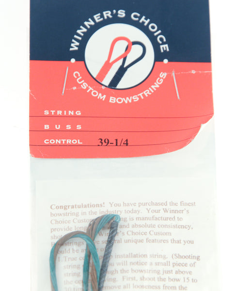 "Winner's Choice Bow Strings:  Control Cable 39-1/4"" -  20 Strand, B, 8125 NEW"