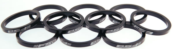 "FSA 10qty 5mm Bike Bicycle Headset Spacer Kit 1.5"" 1 1/2"" Alloy Black NEW"