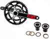 FSA BBRIGHT GOSSAMER Road Bike Crankset 50/34t 172.5 10S N10 Black Alloy NEW 2013