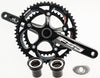 2013 FSA BBRIGHT GOSSAMER Road Bike Crankset 53/39 172.5 10S N10 Black Alloy NEW