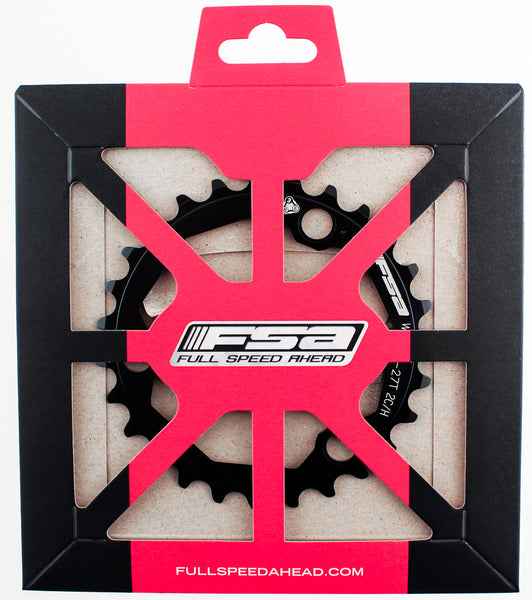 FSA K-FORCE PRO MTB Chainring 27t 86 BCD S9 9 Speed 3 Bolt Bike Black 386 NEW