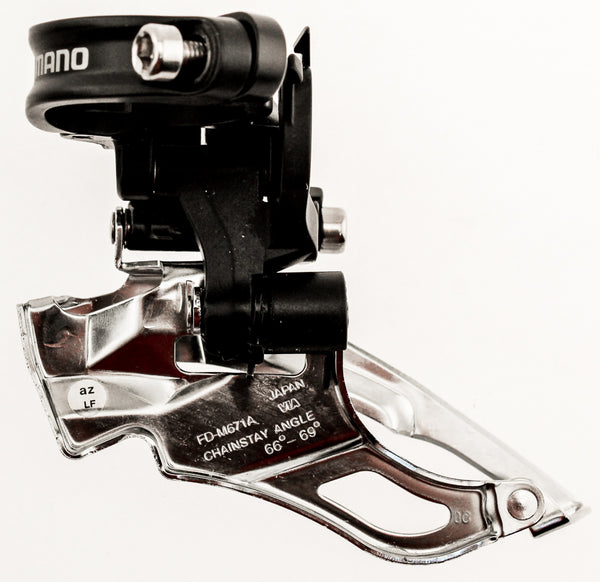 SHIMANO SLX FD-M671 Front Derailleur 31.8mm Clamp DYNA-SYS Dual Pull 3 Speed NEW