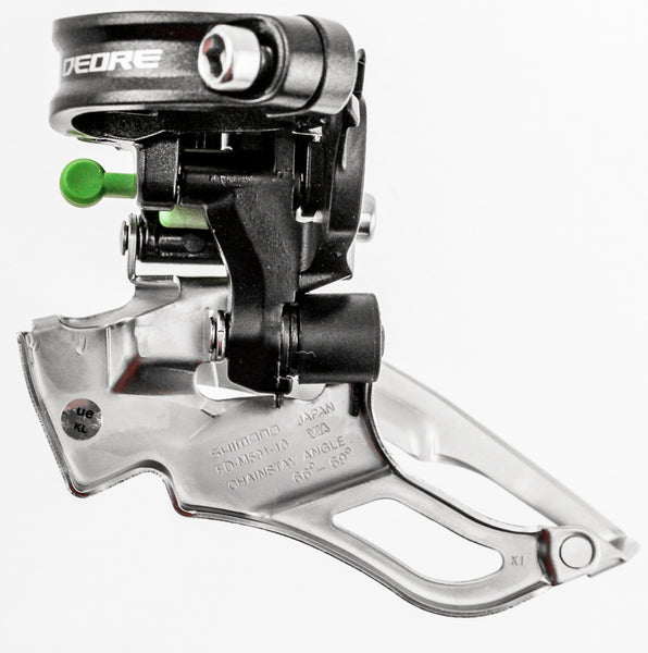 SHIMANO DEORE FD-M591 10SP Triple Front Derailleur 34.9mm Mountain Bike Mtb NEW