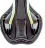 Oval Concepts Road MTB Bike Saddle Seat Black Cro-Mo Rails Black/Orange NEW