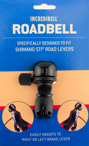 MIRRYCLE INCREDIBELL Road Bike Bell Black For SHIMANO STI Brake Levers NEW