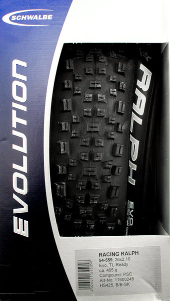 "SCHWALBE RACING RALPH EVO TLR Tubeless 26"" x 2.10"" Folding Bike Tire NEW IN BOX"