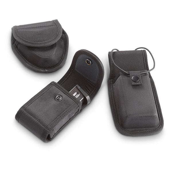 Fox Tact Pro Series Pol 3pc Pk Radio Holder Handcuff Case Dual Pistol Mag Pouch