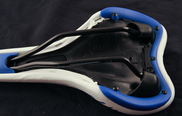 VELO CYCLE MTB Road Hybrid Bike Saddle Seat White/Blue NEW
