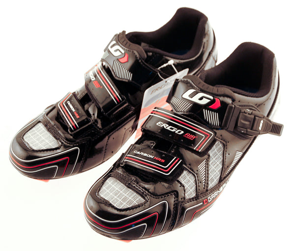 LOUIS GARNEAU CARBON HRS-2 MEN'S SHOES BLACK EURO 39 USA 5.5 NEW IN BOX
