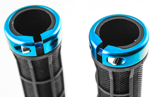 ORBEA LOGO Bicycle Bike Handlebar Lock-On Grips Flat MTB Black/Blue NEW
