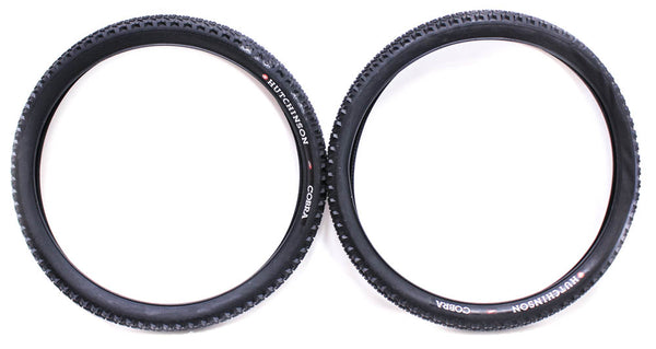 "HUTCHINSON COBRA Non-Folding 26 x 2.25"" MTB Mountain Bike Knobby Tires Pair NEW"