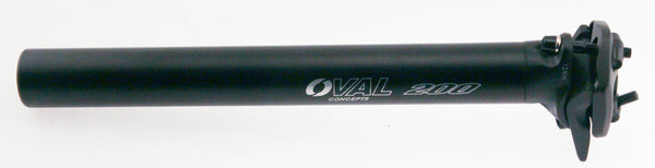 Oval Concepts 200 Alloy Seatpost 31.6mm x 300mm Road MTB Bike Black/White NEW