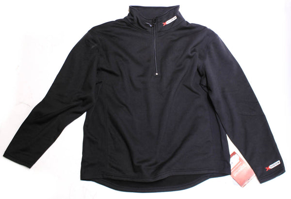 ONYX X-SYSTEM Midweight Fleece Pullover Shirt M Black 1/4 Zip 4-Way Stretch NEW