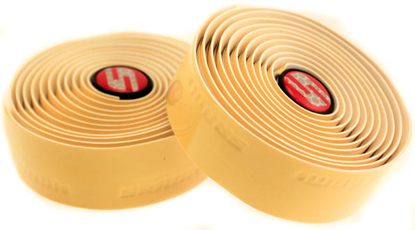 SRAM SUPERSPORT Gel Bike Handlebar Tape Includes Plugs Yellow Drop Cushion NEW