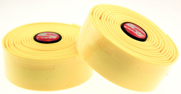 SRAM SUPERSUEDE Bike Handlebar Tape Includes Plugs Yellow Drop Cushion NEW