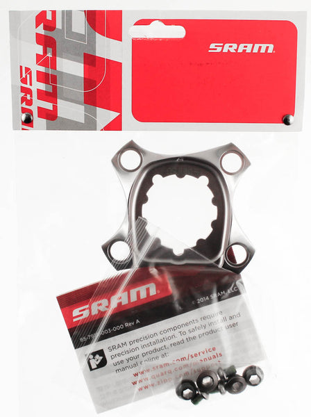 SRAM XX1 Spider With Chainring Bolts BB30 Crankset 76mm BCD 11sp Grey Alloy NEW