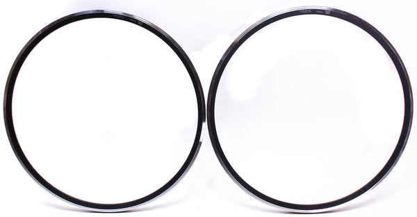 DRC SRL Rims Pair Rims 622 x 13.90 Aluminum Alloy 700c Black 20 Hole Italian NEW