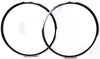 Lot of 2 Rims Aluminum Alloy 700c Black 24 Hole Italian Pair Presta Rd Bike NEW