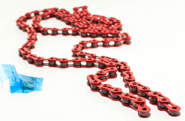 "KMC K710SL 1/2"" X 1/8"" Bike Bicycle Chain 100 Link Single Speed Red NEW"