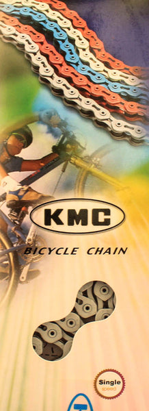 "KMC K710SL 1/2"" X 1/8"" BMX Bike Bicycle Chain 100 Link Single Speed White NEW"