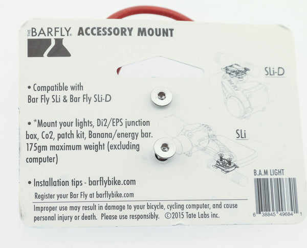 Tate Labs BAR FLY B.A.M. SLi & SLi-D Light Attachment Accessory Mount Bike NEW