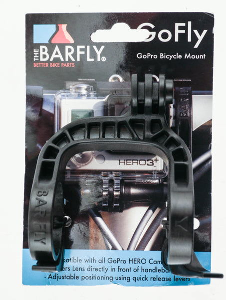 Tate Labs BAR FLY GoFly GoPro Camera Bicycle Handlebar Mount Black 31.8mm NEW