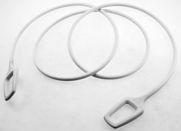 Knog Ring Master 2.2M Bike Cable Bike Silicone Over-Moulded White 10mm Steel NEW