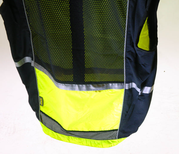 WOWOW Lrg Sleeveless Sport Jacket  Cycling Wind Vest 3M High-Viz Reflective NEW