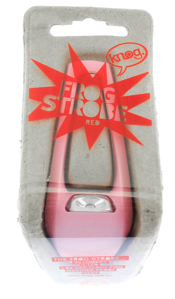 KNOG FROG Pink Strobe Bike Rear Light 25 Lumens RED LED Weather Proof NEW