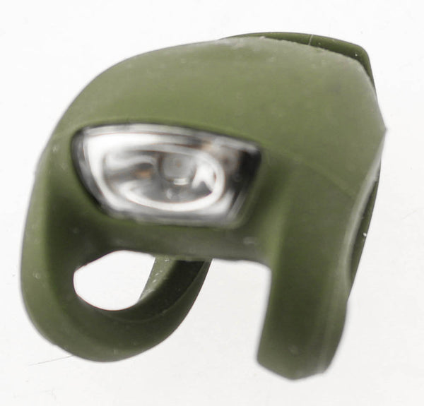 KNOG FROG Olive Green Strobe Bike Rear Light 25 Lumens RED LED Weather Proof NEW