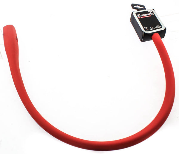 Knog Kransky 880mm Cable Bike Lock With Bracket Red Keyed Silicone Steel New