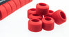 SPURCYCLE Grip Rings Set 14 Bike Flat Handlebar Silicone Red Locking Plugs NEW