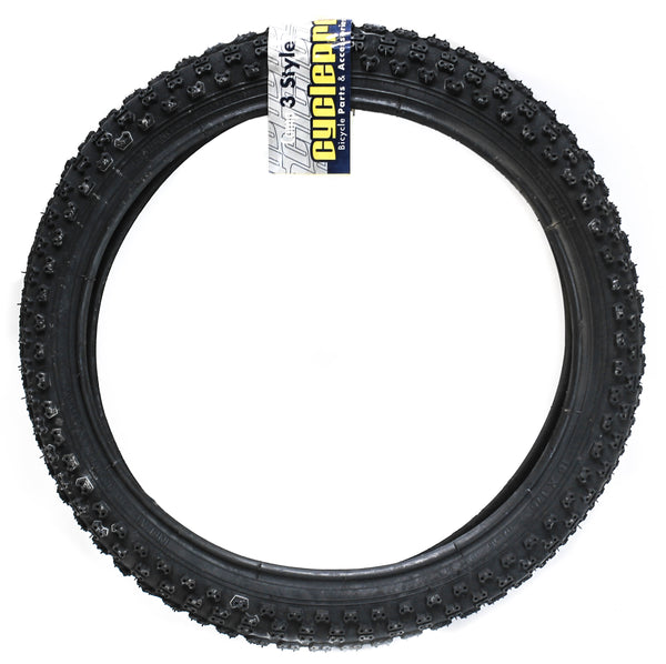 "1 QTY CyclePro Comp III 16""x1.75"" Kid's BMX Bike Tire 35psi Clincher Knobby NEW"