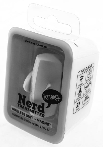 Knog Nerd Transmitter Replacement Wireless Unit + Magnet Nerd 5/9/12 White New