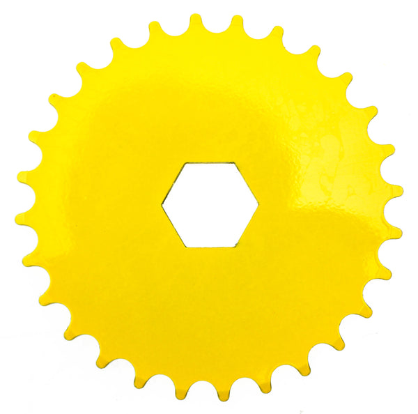 "Hex Mount Bike Chainring 28T 1/8"" 176g Yellow Steel Kid's Youth BMX New"