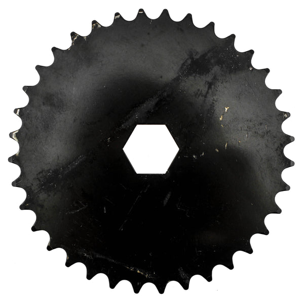 "Hex Mount Bike Chainring 36T 1/8"" 296g Black Steel Kid"