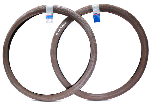2QTY Rubena V99 City Hopper Bike Tire 29er/700c x 2.00 Wire Bead Brown New