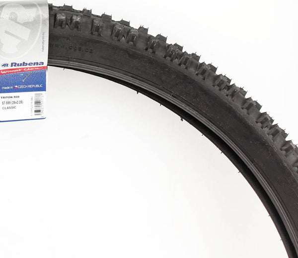 "RUBENA TRITON R08 CLASSIC 26 x 2.25"" MTB Bike Tire Wire Bead Black 30-50 PSI NEW"