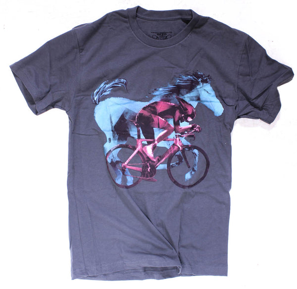 CLOCKWORK GEARS HORSEPOWER Men's Sm T-Shirt Short Sleeve Grey Cotton Crew NEW